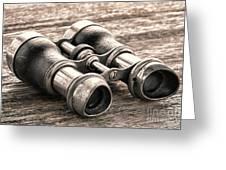 Vintage Binoculars Greeting Card