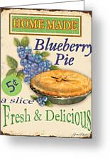 Vintage Blueberry Pie Sign Art Print By Jean Plout