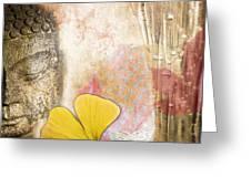 Vintage Buddha And Ginkgo Greeting Card