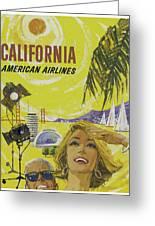 Vintage California Travel Poster Greeting Card