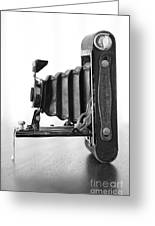 Vintage Camera - Black And White Greeting Card
