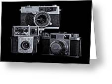Vintage Camera Trio Greeting Card