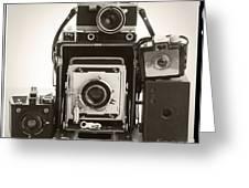Vintage Cameras Greeting Card
