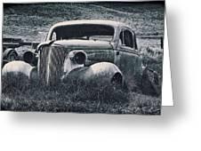 Vintage Car At Bodie Greeting Card by Kelley King