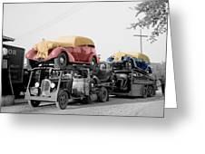 Vintage Car Carrier Greeting Card