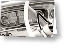 Vintage Car Dashboard Greeting Card