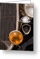 Vintage Car Details 6294 Greeting Card