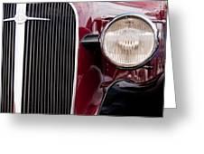 Vintage Car Details 6297 Greeting Card