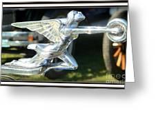 Goddess Of Speed Packard Hood Ornament  Greeting Card