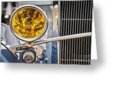 Vintage Car Light Greeting Card