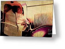 Vintage Car Greeting Card