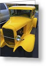 Vintage Car Yellow Greeting Card
