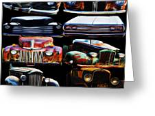 Vintage Cars Collage 2 Greeting Card