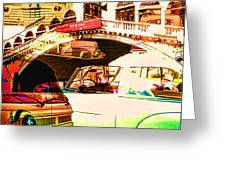 Vintage Cars Collage Greeting Card