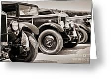 Vintage Cars Greeting Card