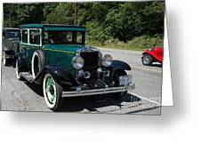 Vintage Cars Green Chevrolet Greeting Card