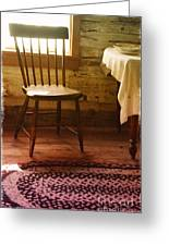 Vintage Chair And Table Greeting Card