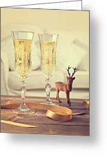 Vintage Champagne Greeting Card
