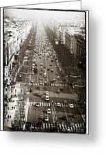 Vintage Champs Elysees Greeting Card