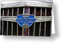 Vintage Chevrolet Grille Emblem Greeting Card