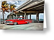 Vintage Chevy Impala Greeting Card