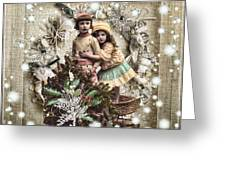 Vintage Christmas Greeting Card by Mo T