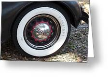 Vintage Chrysler Automobile Wide Whitewall Tire Poster Look Usa Greeting Card