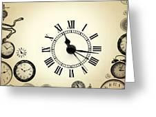 Vintage Clocks Greeting Card