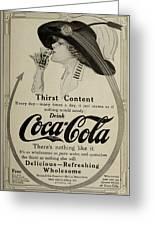 Vintage Coca Cola Ad 1911 Greeting Card