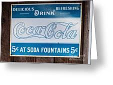 Vintage Coca Cola Ad Greeting Card