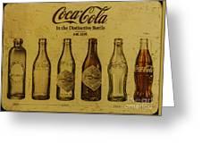 Vintage Coca Cola Bottles Greeting Card