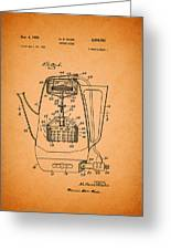 Vintage Coffee Maker Patent 1958 Greeting Card