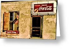 Vintage Colas Greeting Card