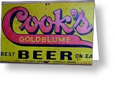 Vintage Cooks Goldblume Beer Sign Greeting Card