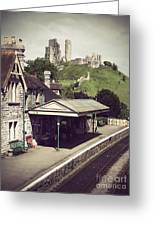 Vintage Corfe Castle Greeting Card