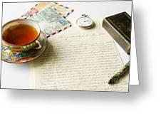 Vintage Correspondence Greeting Card