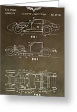 Vintage Corvette Patent Greeting Card