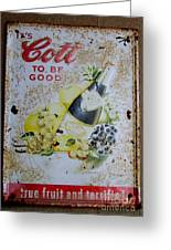 Vintage Cott Fruit Juice Sign Greeting Card