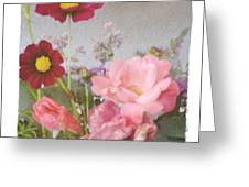 Vintage Cottage Garden Greeting Card by Tanya Jacobson-Smith