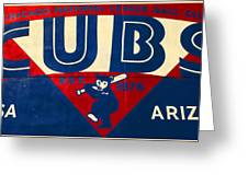 Vintage Cubs Spring Training Sign Greeting Card