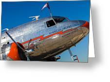 Vintage Dc-3 Airplane Greeting Card
