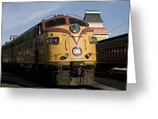 Vintage Diesel Locomotive Greeting Card