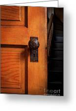 Vintage Door And Stairs Greeting Card