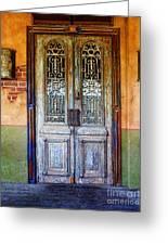 vintage door in Hico TX Greeting Card by Elena Nosyreva
