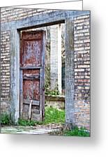 Vintage Doorway Greeting Card by Susan Schmitz