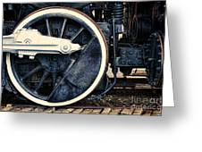 Vintage Drive Wheel Greeting Card by Olivier Le Queinec