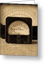 Vintage Electrical Meters Greeting Card