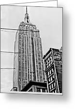 Vintage Empire State Building Greeting Card