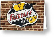 Vintage Falstaff Beer Shield Dsc07192 Greeting Card