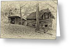 Vintage Farm Buildings Greeting Card